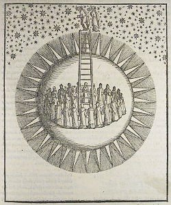 Dante and Beatrice entering the sphere of the fixed stars                                      (Venice: Francesco Marcolini, 1544)  http://www.lib.cam.ac.uk/deptserv/rarebooks/dante.html Via yama-bato