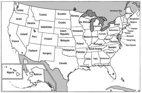 Map of US states renamed to countries who's GDP they share.