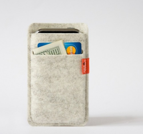 simplypi:  Merino Wool Wallet Case