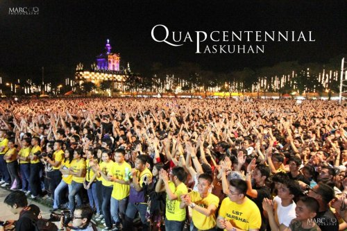 vivasantotomas:  Quadricentennial Paskuhan UST Main Field  December 16, 2011 Photo by Marc Heinrich Go The scene says it all.