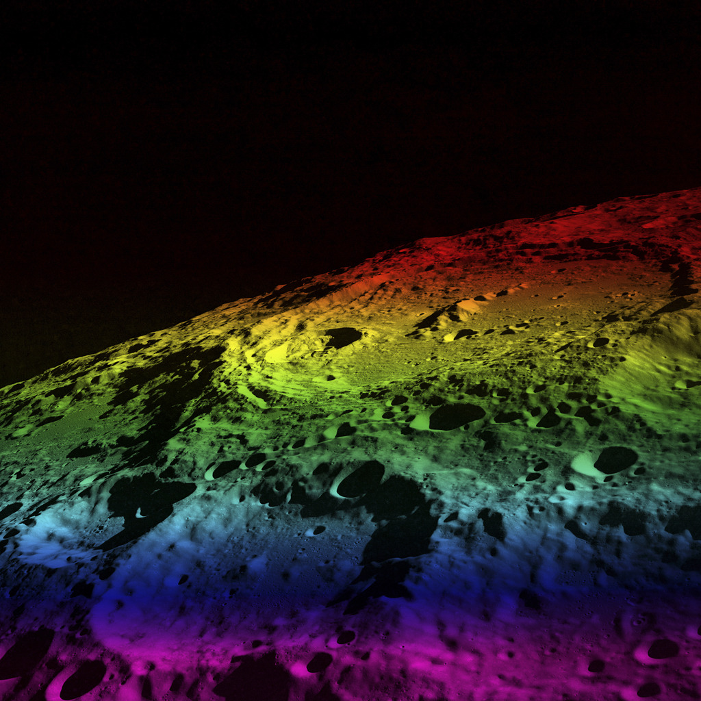 Jack Ryan. Moon/Color Spectrum, 2008 Archival digital print  More: Spectrum Study and Rainbow Moon
