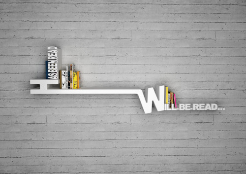has been read vs. will be read.  industrialist: Target Bookshelf by Mebrure Oral   want.