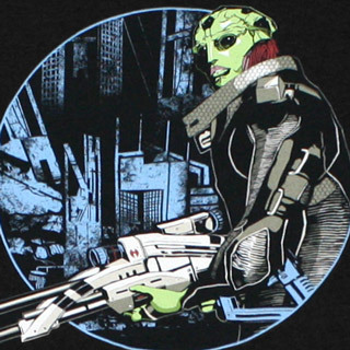 A t-shirt with the all sexy Thane Krios on it looking many kinds of bad ass?Yes please!