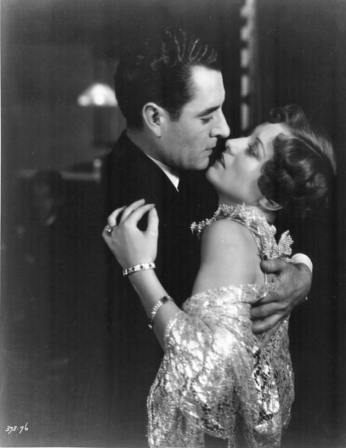 theloudestvoice:  John Gilbert and Joan Crawford, Four Walls, 1928