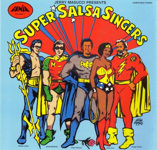 "afrodiaspores:  ""Jerry Masucci Presents: Super Salsa Singers, Volume 1,"" with Hector Lavoe, Ismael Miranda, Cheo Feliciano, Celia Cruz, and Ismael Rivera, 1977   This is amazing!"