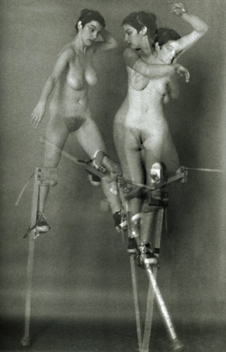 frenchtwist: Doloreze Echassses (Female Nude on Stilts) by Christophe Pruszkowski, 1984