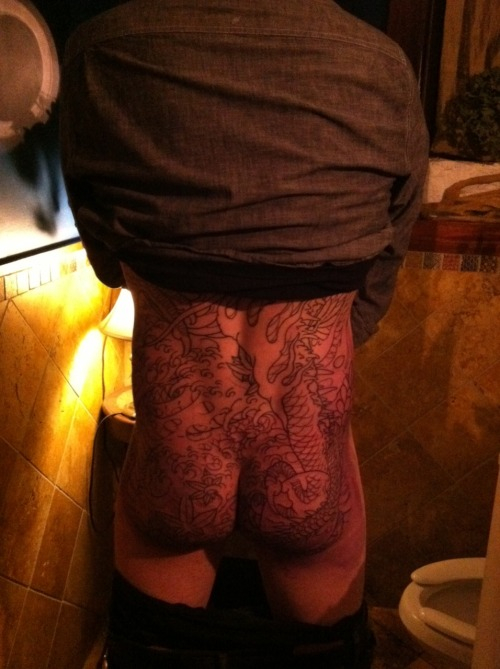 GPOY: The Second Sitting Edition. 2.5 hours on the buttocks and hips. Tattoo by Mike Rubendall of Kings Ave Tattoo