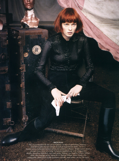 Karen Elson - Vogue US September 2002 by Steven Klein