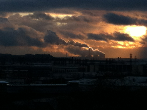 Power Station Sunset