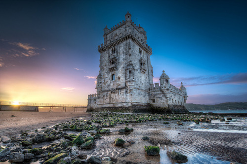 Belem Tower At Sunrise - (HDR Lisbon, Portugal) by blame_the_monkey on Flickr.