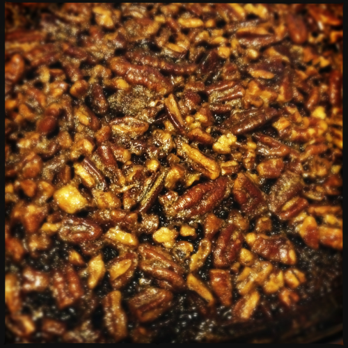 Gluten free bourbon pecan pie brownies are done! Now off to shoot a wedding.