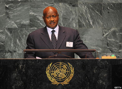 "Ugandan President: Concerns Over Gay Rights Shouldn't Affect Foreign Aid   The Advocate reports:  The president of Uganda has warned Western nations not to put strings on foreign development aid for the sake of LGBT rights, AFP reports. ""Before anyone gives me a lecture about homosexuals and their rights, first talk about railways,"" President Yoweri Museveni told delegates at a regional meeting in the capital city of Kampala with several other African heads of state. ""Homosexuals also need electricity, homosexuals also need roads, homosexuals also need railways."" (Read the AFP report here.)Museveni's comments come less than two weeks after Secretary of State Hillary Rodham Clinton gave a speech before the UN in Geneva on LGBT rights as fundamental human rights.State Department officials have emphasized that the articulated foreign policy directives on LGBT rights as outlined by the Obama administration last week are ""affirmative, not punitive."" For example, Clinton announced in her address the launch of a small global fund to support initiatives of LGBT groups in countries where gays may face criminal charges and hostile environments. UK prime minister David Cameron had made bolder statements this fall, calling for the cutting of one type of bilateral aid to Commonwealth countries that criminalize homosexuality.Some political observers view Museveni's comments as small sign of progress, however roundabout: The Ugandan leader barely mentioned the existence of gay people in his country several years ago.Meanwhile, three antigay Christian pastors in Uganda accused of a smear campaign against another religious leader faced conspiracy charges this week that could lead to five-year jail sentences, according to one regional report."