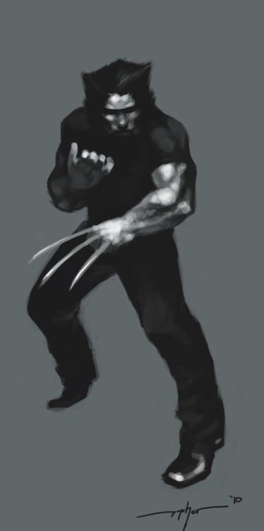 Wolverine  Drawn in 2010
