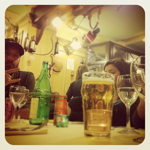 #pizza with #friends in #florence (Taken with Instagram at Il Portale - Trattoria e Pizzeria)