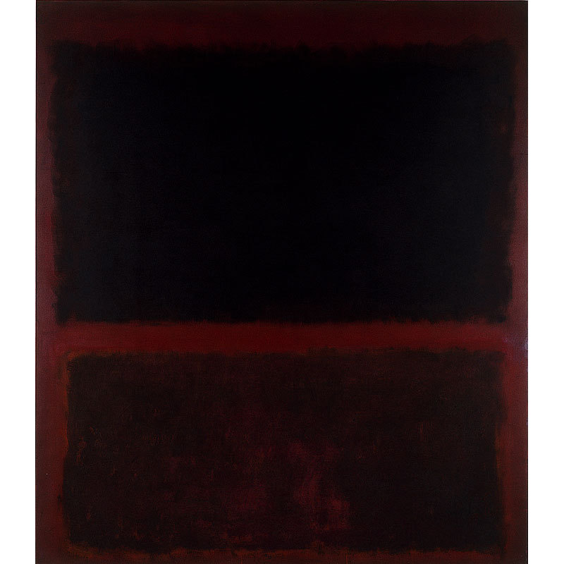 Mark Rothko No. 12 (Black on Dark Sienna on Purple) 1960  http://www.moca.org/pc/viewArtWork.php?id=65