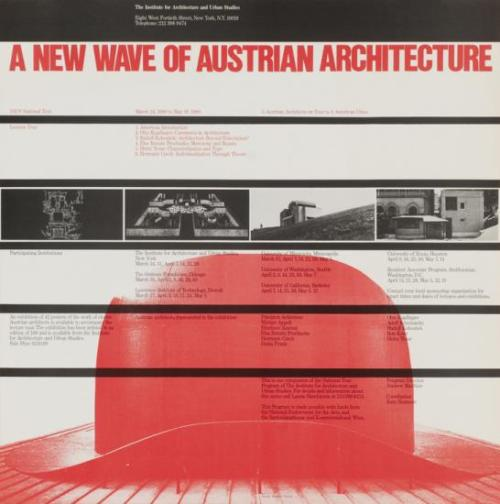 Poster for the Institute for Architecture and Urban Studies (1980) by Massimo Vignelli
