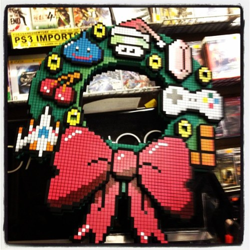 It's an #8bit #xmas. #videogames #nyc (Taken with instagram)