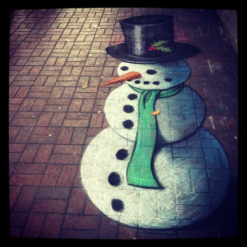 Frosty #snowman #christmas #xmas #sidewalkart #victoriabc #iphone #iphone4 #iphonesia #iphoneonly #iphoneographer #iphoneography  (Taken with instagram)