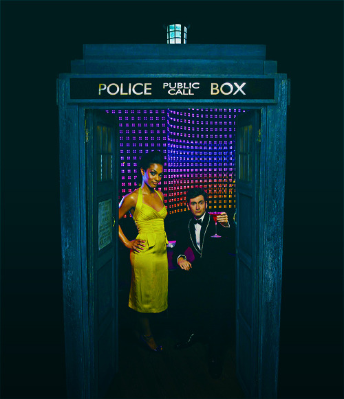 doctorwho:  Freema and David in the TARDIS