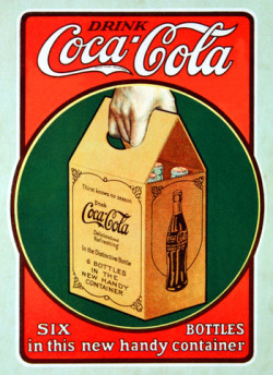 Coca-Cola - six-pack carton, 1924