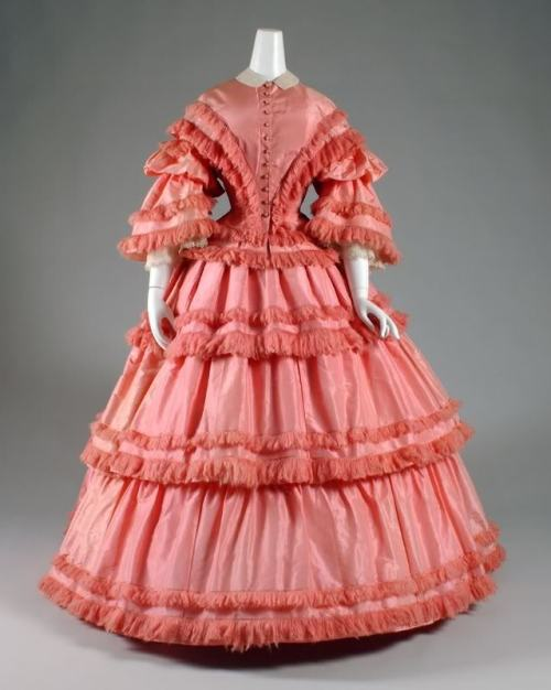 Dress, ca 1857 US, FIT
