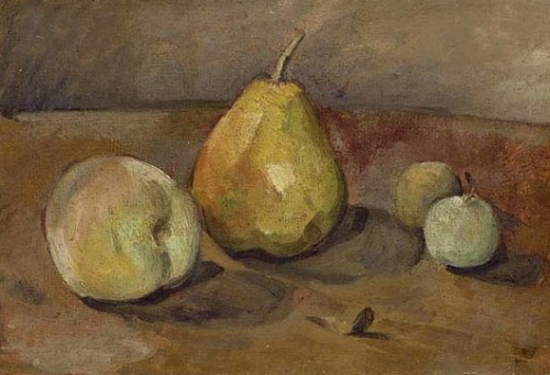 Paul Cezanne Pear and Green Apples 1873