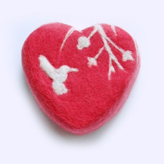 What a good idea! I think this is so cool. (via MADE TO ORDER Felted Soap Coral Red Heart with White by SoFino)