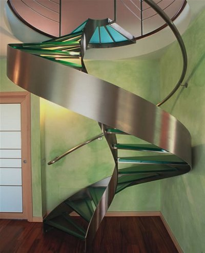 gaksdesigns:  DNA inspired staircase by Geoffrey Packard