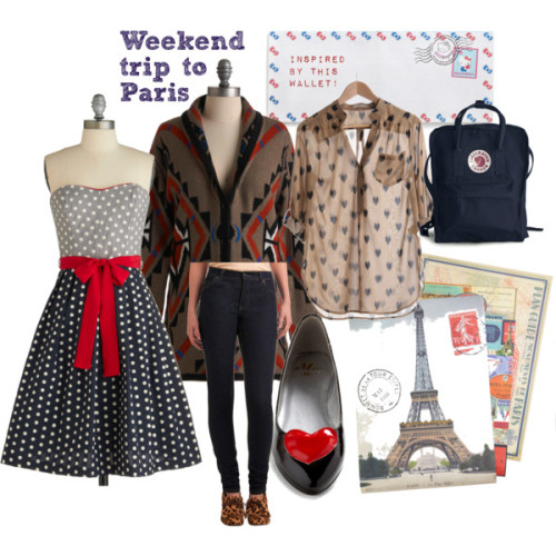 Let's Go to Paris! by designthislife featuring black flatsStrapless cocktail dress, $225Long sleeve top, $78Emily and Fin sheer blouse, $38Cheap Monday high waisted skinny jeans, $65Black flat, $30Tote bag, $65Pocket wallet, $15Remains to be Scene Paper Set in Paris, $25