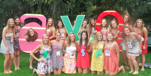 sororitysugar:  SISTERHOOD: AXO Bid Day love. Fall Recruitment 2011. University of Michigan.  submitted by: astaticsilhouette  love the lowercase letters