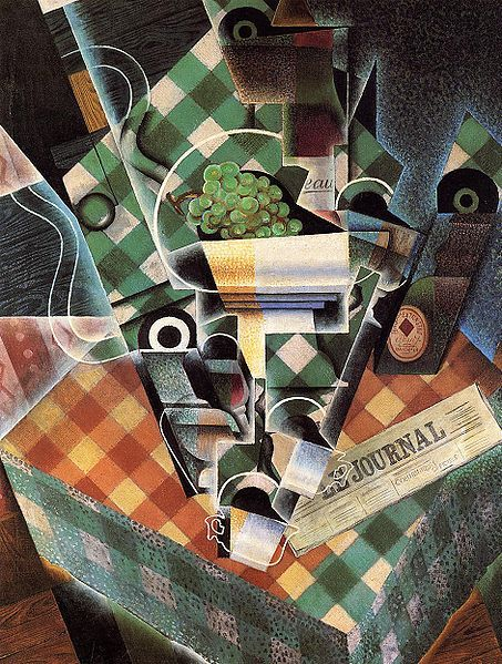 Juan Gris, Still Life with Checkered Tablecloth, 1915.