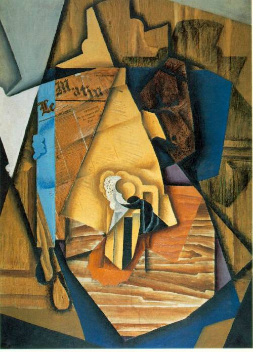 Juan Gris, The Man at the Cafe, 1914.