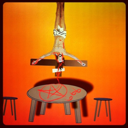 Hanging around #lord #jesus #666 #hell #lucifer #satan #patymouf #imzeke #party  (Taken with instagram)
