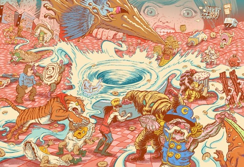 "fuckyeahpsychedelics:  ""The Battle For Breakfast"" by Will Varner"
