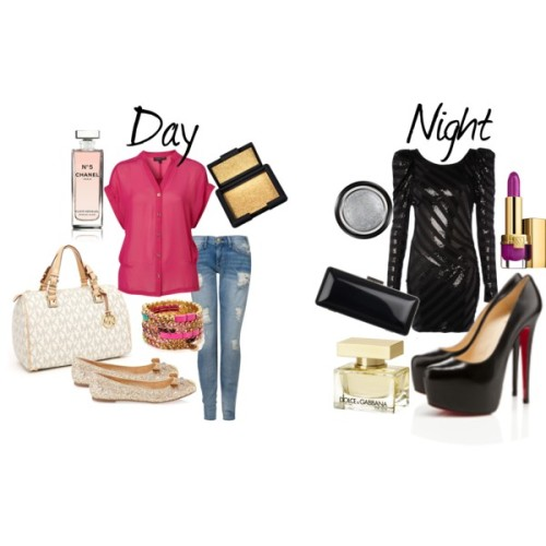 Day - to - Night by missdalesa featuring a chiffon blouseLipsy dressTopShop chiffon blouse, $70Current/Elliott ripped skinny jeans, $86Marc by Marc Jacobs ballet flat, $230Christian louboutin heelsMICHAEL Michael Kors michael kors handbag, $298Daria clutch handbag, $245Juicy Couture bangle bracelet, $48Armani Beauty Holiday Eyes To Kill Intense Eye Shadow Madreperla -1:…, $32Estée Lauder 'Pure Color' Long Lasting Lipstick - Modern Mercury, $24Dolce & Gabbana The One 2.5 Oz Eau De Parfum Spray, $95Chanel N°5 Sensual Elixir, $68