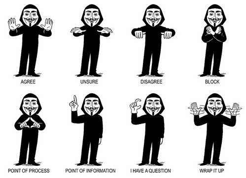 nevver:  Occupy Hand signals, Adam Koford