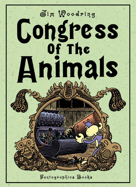 I asked for Jim Woodring's 'Congress of the Animals' for my birthday. It's a wordless graphic novel that follows Woodring's main character Frank on a fantastical journey that eventually finds him some sort of love and affection, but for the most part is full of disaster, hard labour and general grotesqueness.  I really want to like Jim Woodring's work and in a way I do- I admire both his imagination and technical skill as an artist. However I'm just a really, really sensitive person when it comes to disturbing imagery and general grossness- I can't handle it. Reading Congress of the Animals reminded me of being given the 'Twisted Tales of Felix' video as a child and being completely sickened by it's weirdness. Unfortunately for me my little sister loved it, and toddlers can happily watch the same thing over and over and over again! It's pathetic I know, but I had to read this book in small doses, and I especially had to take a break after the 'faceless men with intestines' incident.  At the same time, however, I can see that this book is not just about grossing people out- there's a number of 'deeper' themes running through the storyline. Though to appreciate these in full I'd prefer to read Woodring's (surprisingly comprehensive) summary on the dustjacket than pour over the imagery for too long- but that's just me!