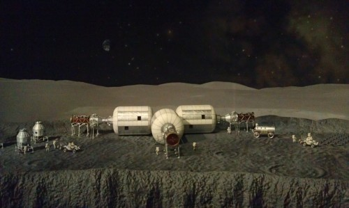 Our future on the moon, living in marshmallow houses. (Thanks Museum of Natural History. You rocked the space exhibit.)