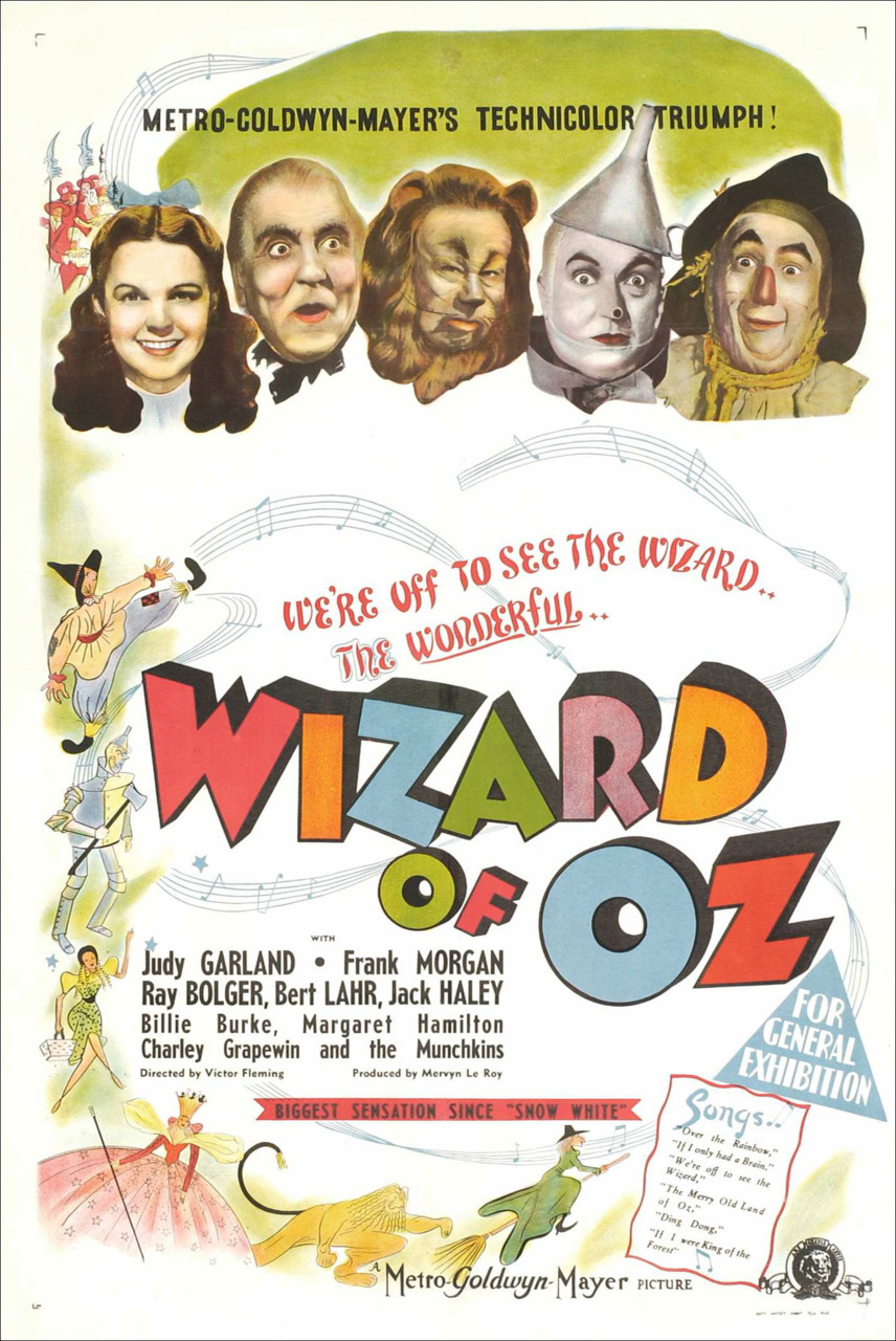 "The wizard of Oz (1939) My brother downloaded the movie. Pinanood ko siya, sabi ko ""napanood ko na ito nung maliit pa ako sa cartoon network I think.""  Grabe it brings back the old days. Maxadong vintage movie na ito.  while I was watching bakit parang their is a feeling inside of me na parang nakakatakot ung movie even if its not a horror movie. Ano ba yan sa sobrang luma ng movie parang its like creepy na? hahahaha"