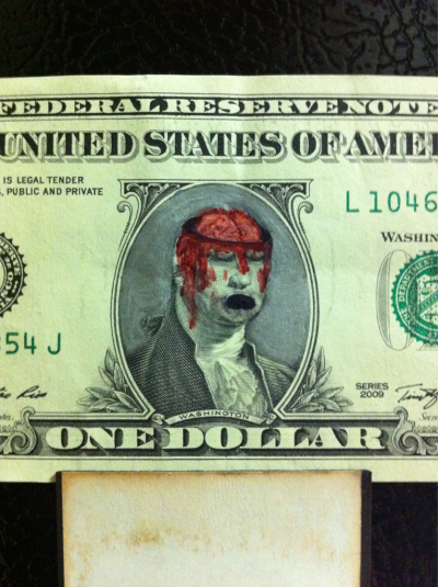 Another dollarbill I did. Turned out pretty cool!