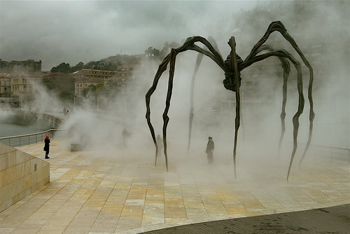 slideandtumble:  Maman, by Louise Bourgeois, outside the Guggenheim Museum, Bilbao, Spain PHOTO CREDIT: Horatio Law
