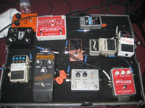 John Gourley's (Portugal. The Man) pedalboard Submitted by: Brian Smith