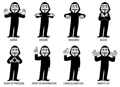 Occupy handsigns by Adam Koford