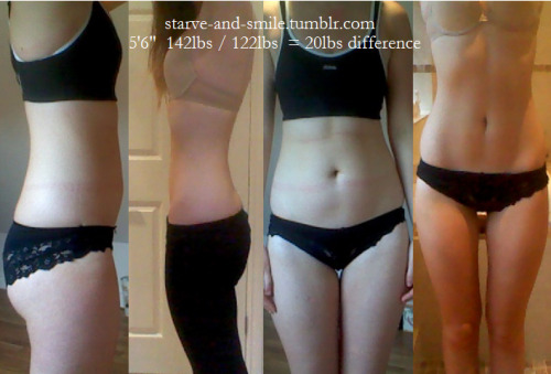 starve-and-smile:  Finally happy with the progress I am making. Beginning to gain at least a little self confidence.
