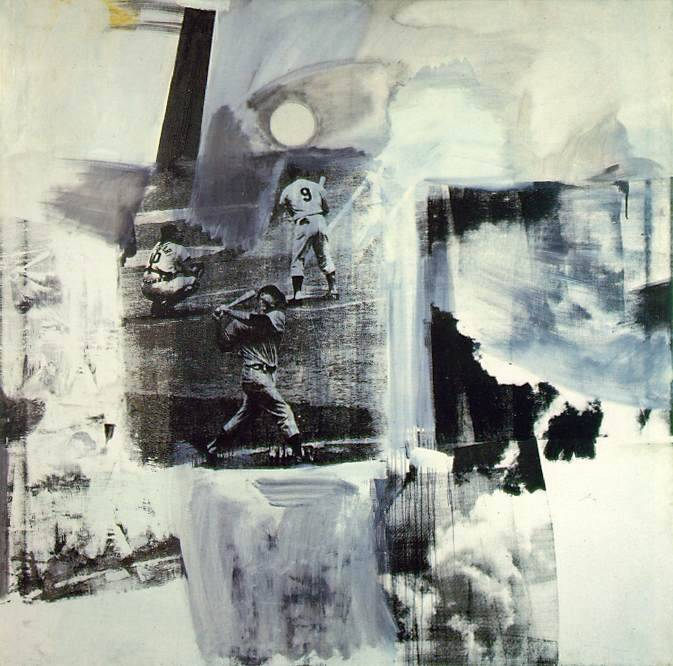 Robert Rauschenberg - Brace, 1962. Oil and silkscreen ink on canvas