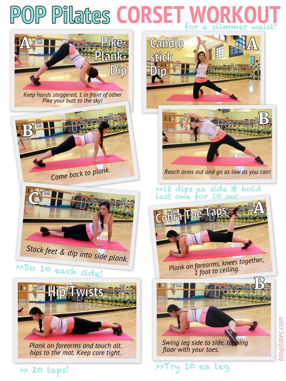 CORSET WORKOUT PRINTABLE! Try this workout 4 times total! Go for it, should be fun! To print just click on the photo and save it. Then print from your computer. To follow along, check out my YouTube video here!  <3 Cassey