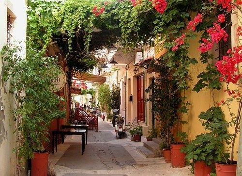 Side Street, Isle of Crete, Greece   photo via itumbleweed