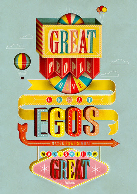 Beautiful type from illustration collective Radio