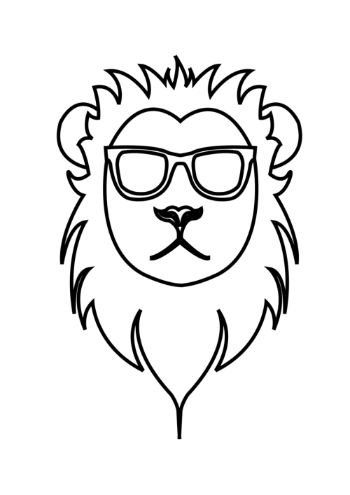 Lion in Ray Bans Just because I was bored.