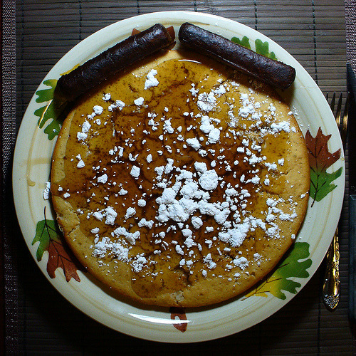 Giant, oven-baked pancakes. Eat ALL the breakfasts for dinner!